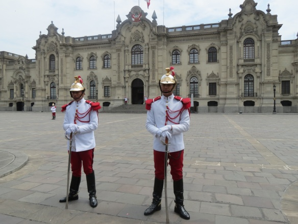 Guards at Presidential Palace have a changing of the guard every day at noon.