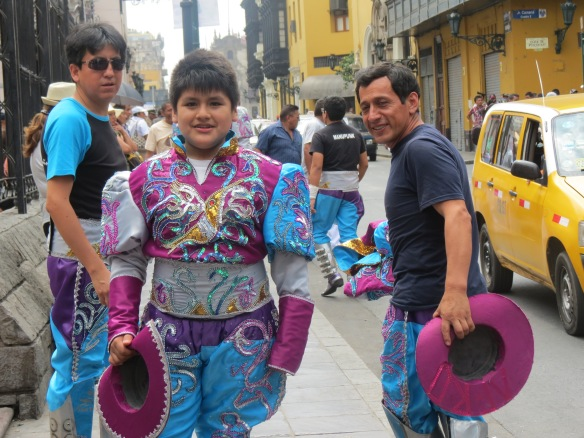 Young Peruvian boy dressed for Parade