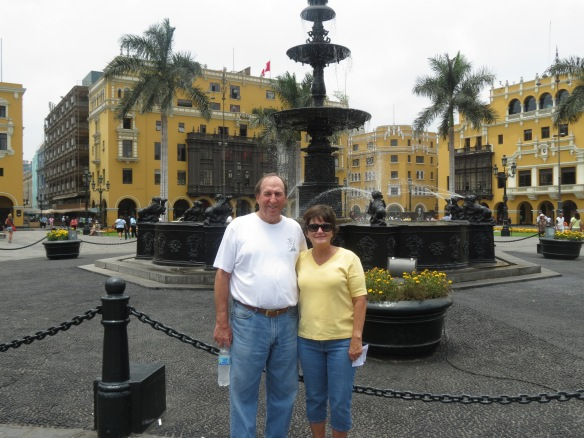 Lance and Pam in the Historic district of Lima