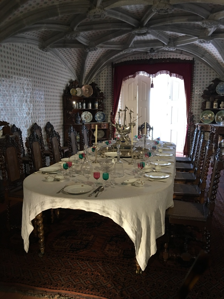 The table is set for the royal family.