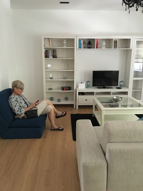 First Day in Porto and arrived at the apartment. It was so large and very modern.