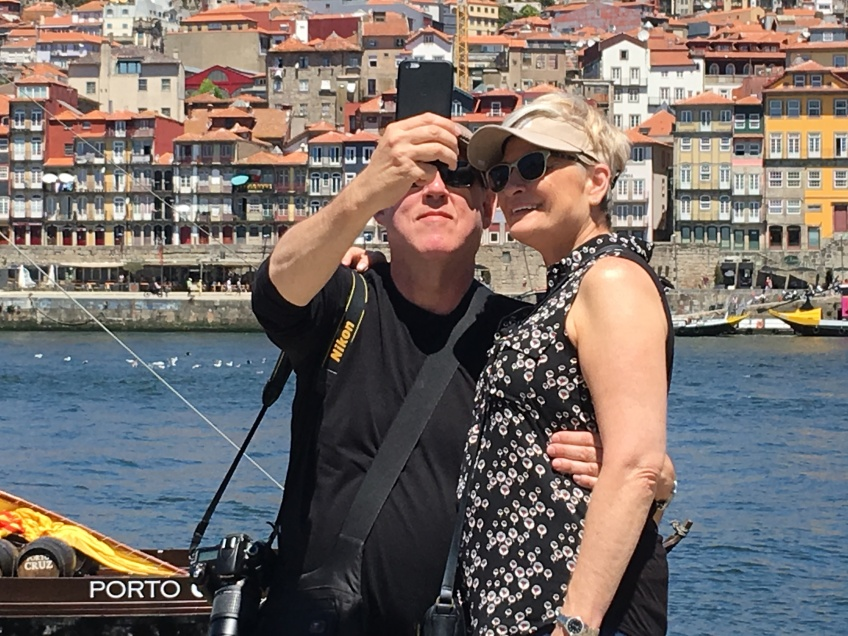 Bruce and Laurie stop and take time to take a selfie.